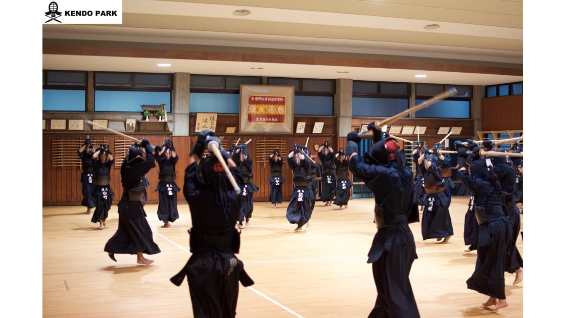 "Training ends with all members doing ""Hayasuburi""."