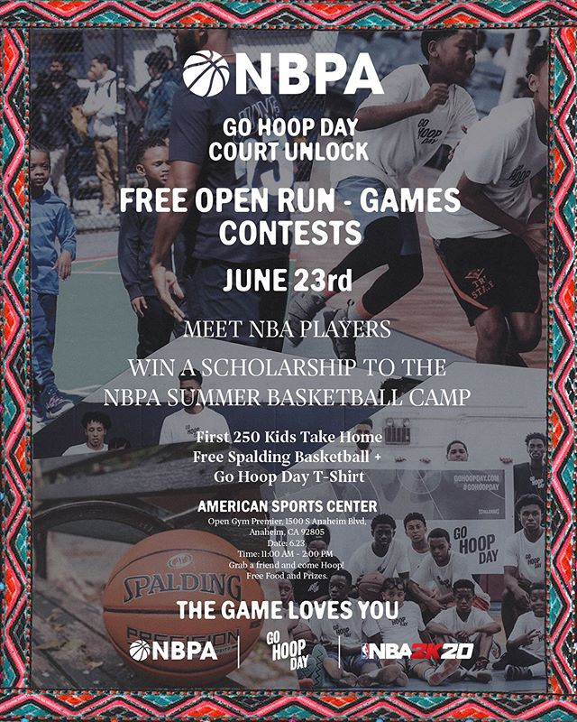 Our friends at the @thenbpa are unlocking a court in Anaheim!🔓 Head over to our Stories to sign up and celebrate the game with us! #TheGameLovesYou