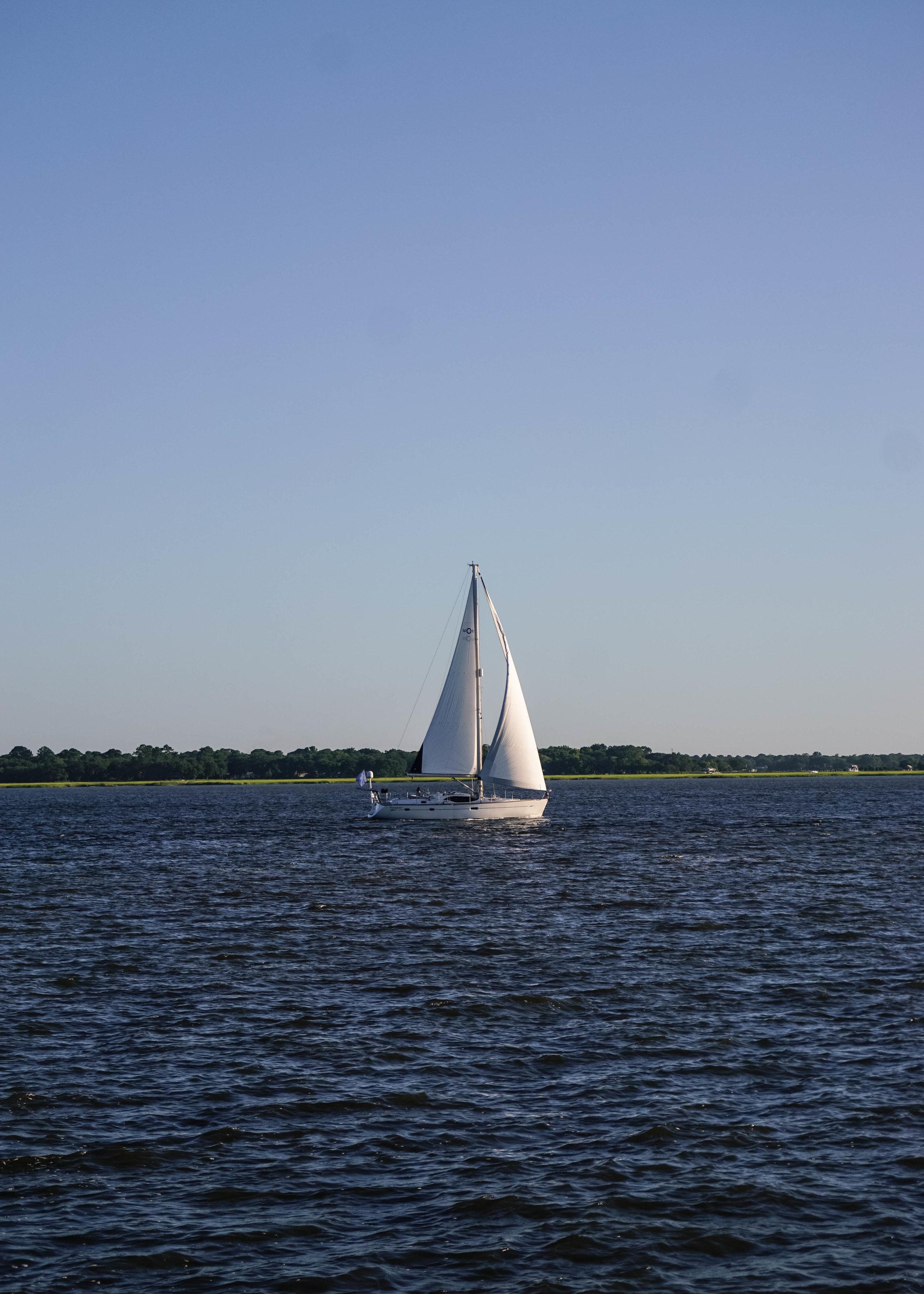 Sailboat on Charleston Harbor