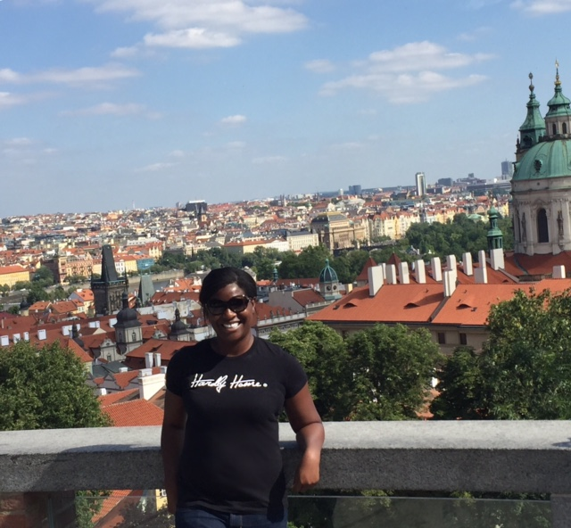 Nice view of the city from Prague Castle!