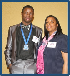 Davontre and Club Director Jacquelyn