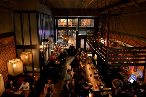 Redford Bar + Restaurant, located in downtown San Francisco serves up American comfort food and flights of whiskey in a loft-like ambiance.