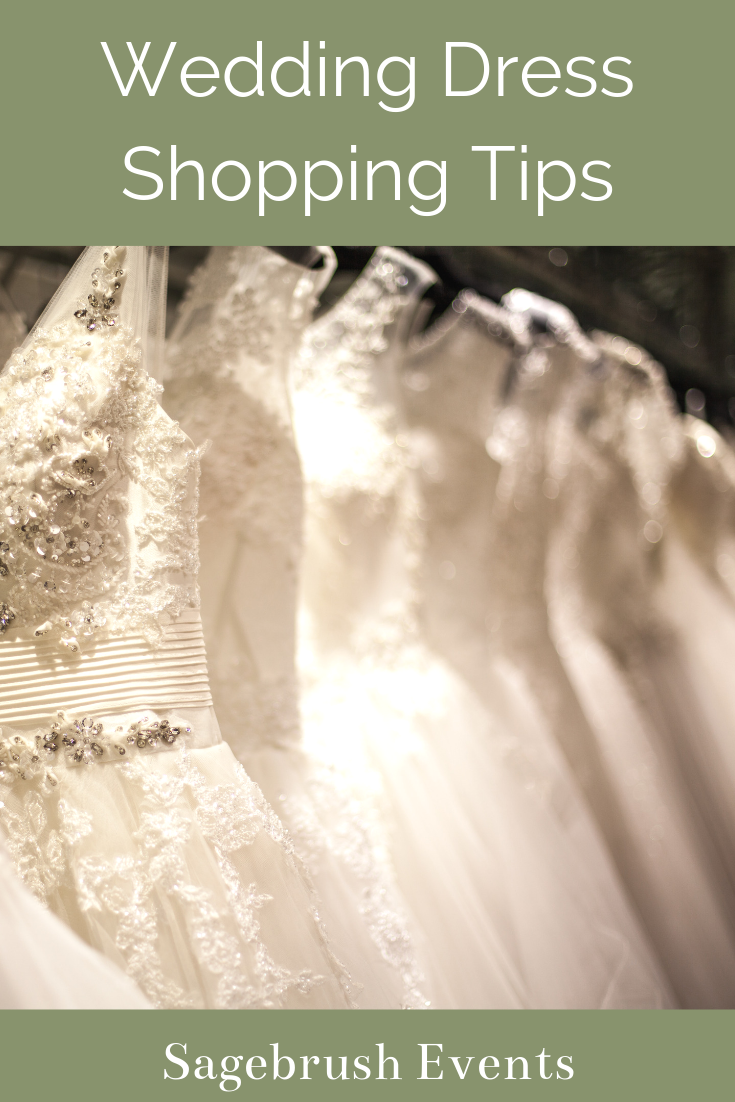 The best wedding dress shopping tips from a wedding planner.