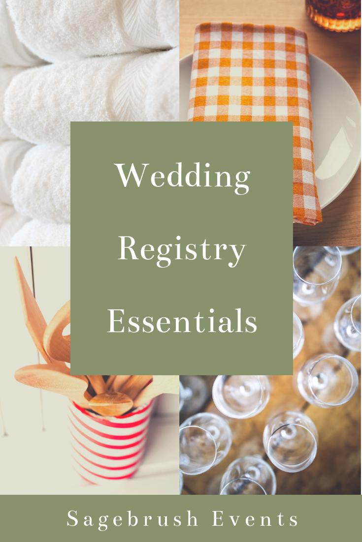 Wedding Registry Essentials from the Sagebrush Lifestyle Blog