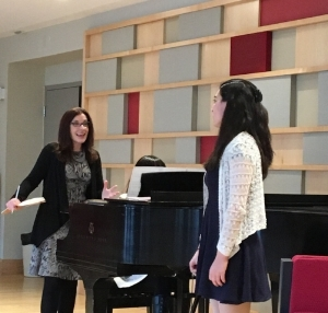 Teaching the French Song Masterclass at New England Conservatory Preparatory School - Dec 2016. Photo Credit: Jennifer Caraluzzi