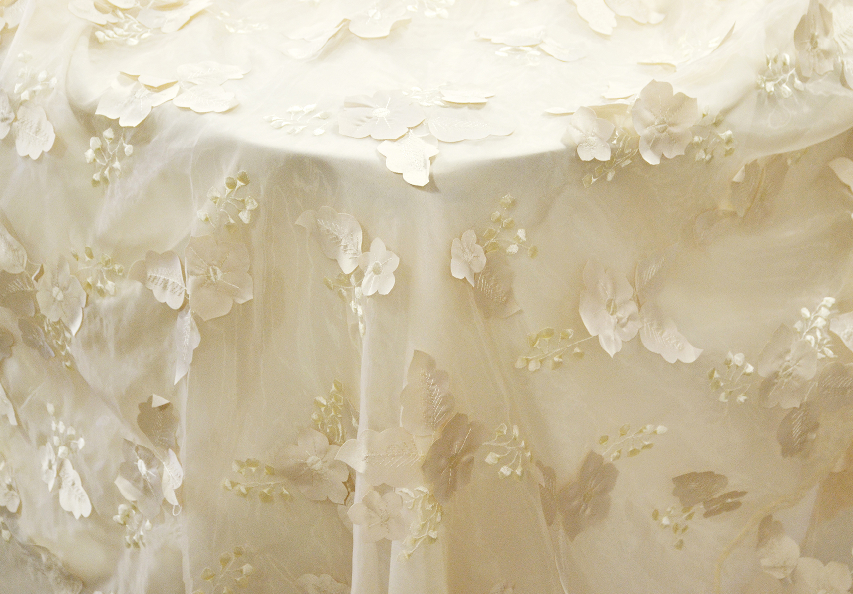Ivory Flower Sheer Overlay