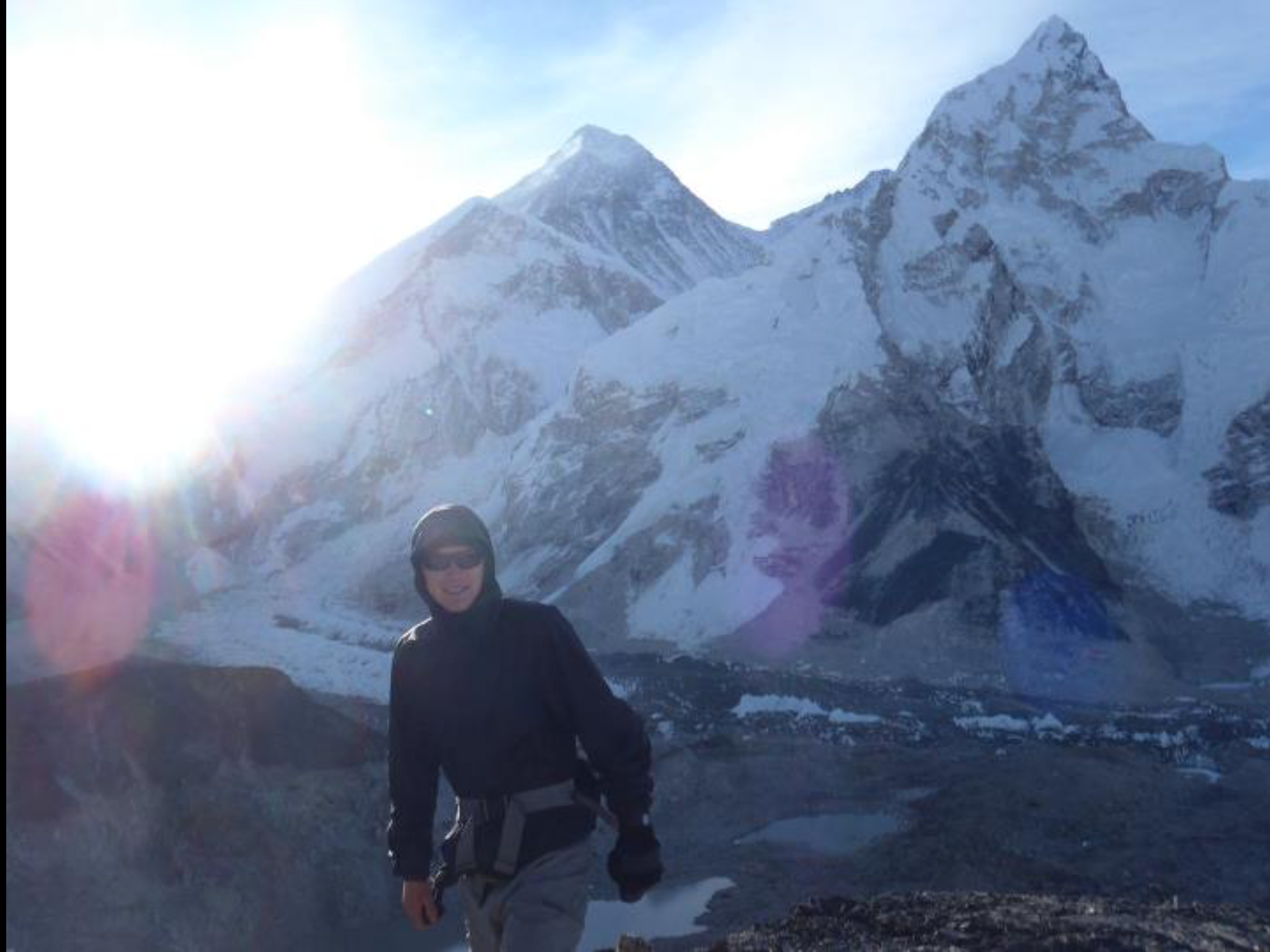 Catching the sunrise with Mount Everest