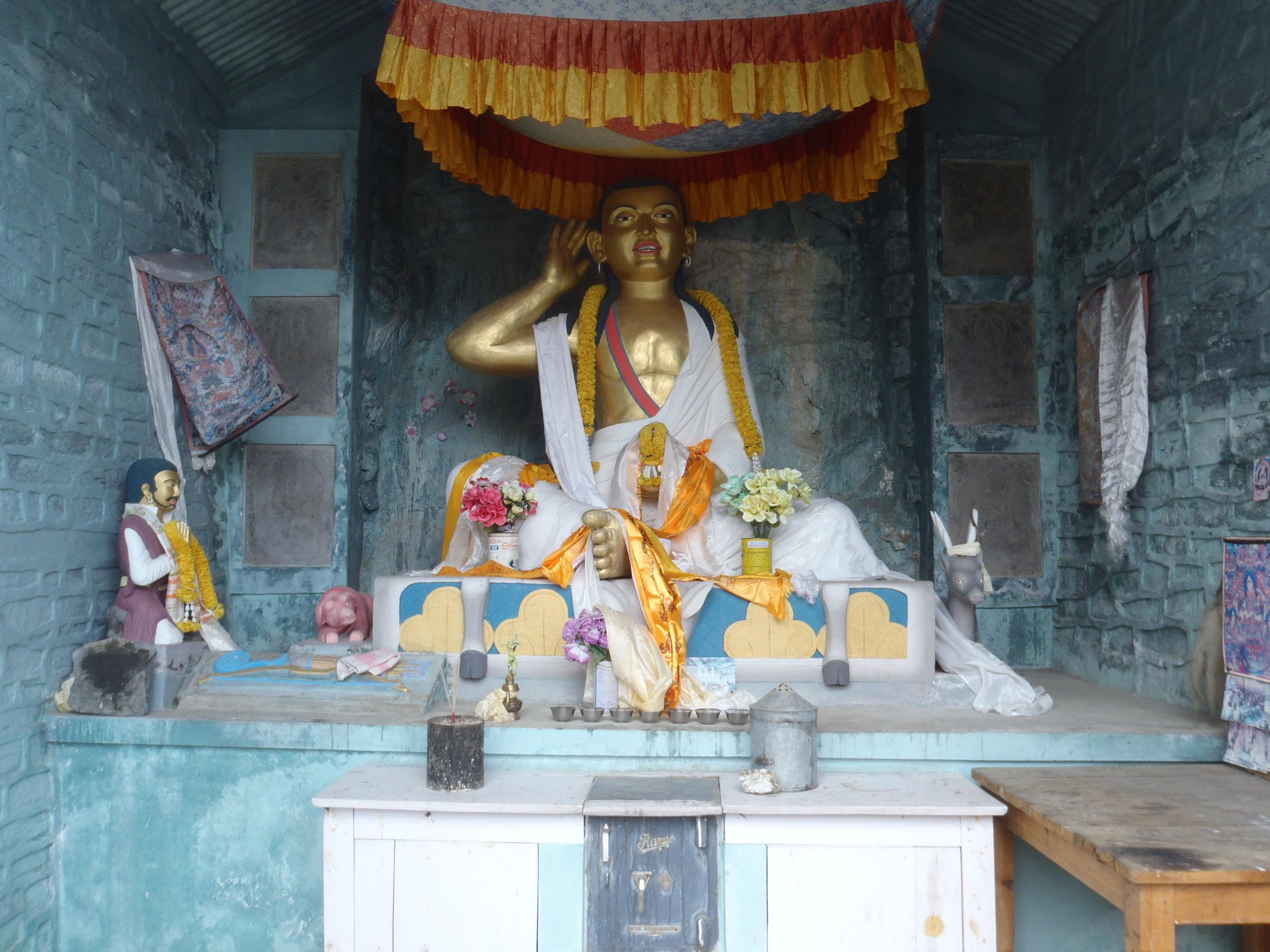 A shrine to Milarepa