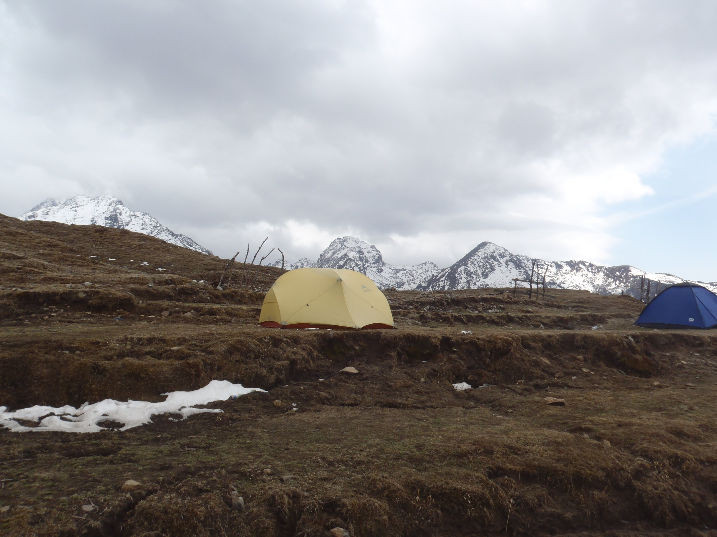 Camping in the Himalayas. Does it get any better?