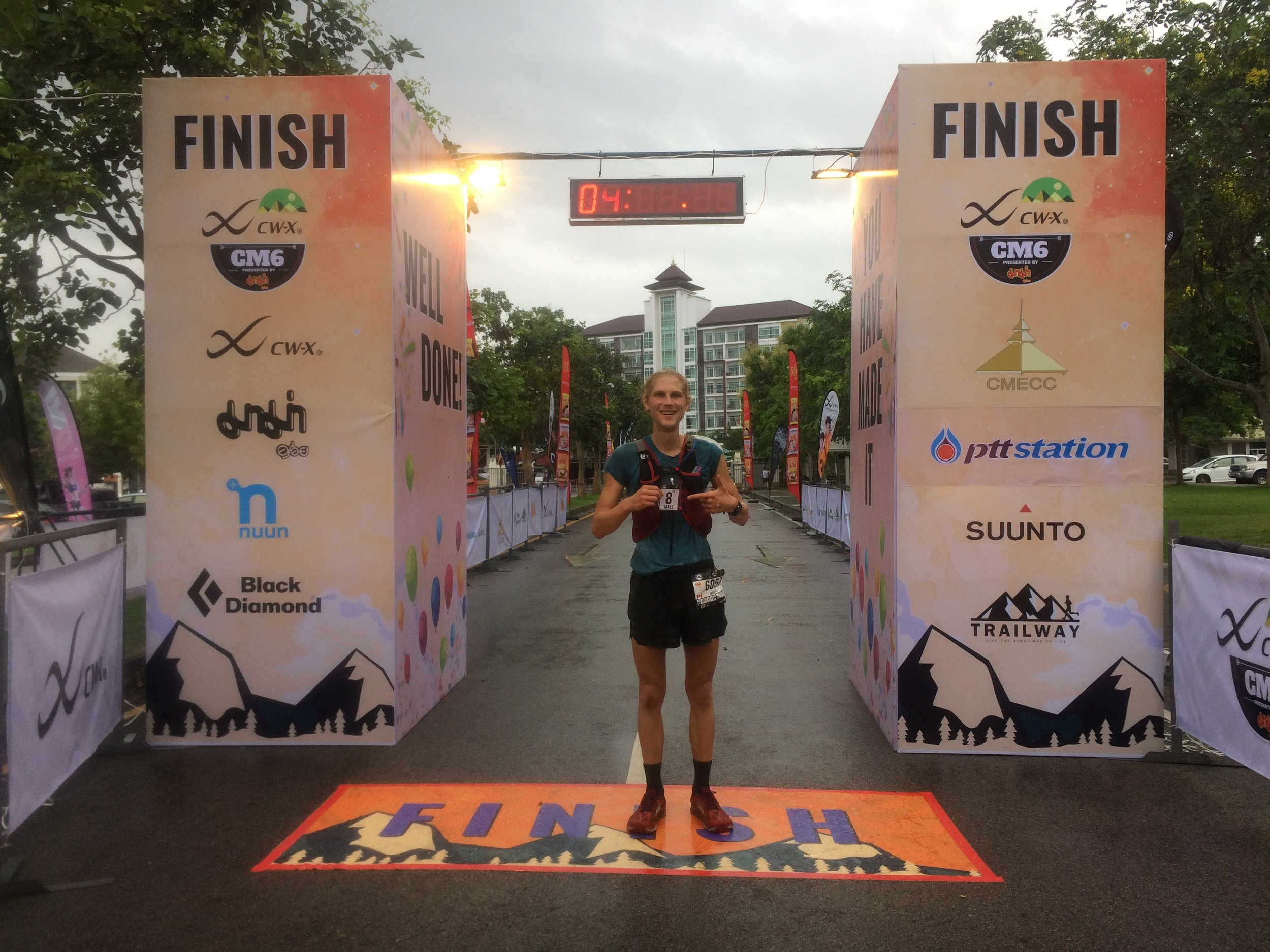 Me at the finish.  Finish time 28:21:54.  Shocked that got 8th.
