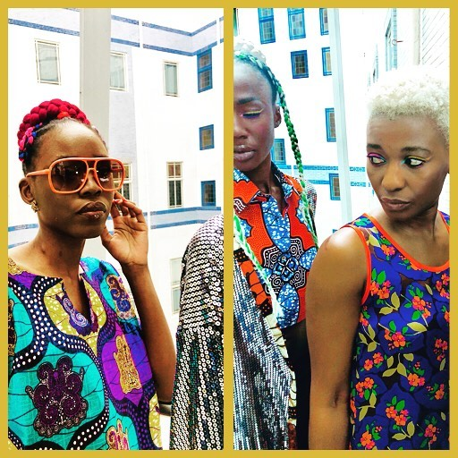 Backstage with the models at Africa Fashion Week London