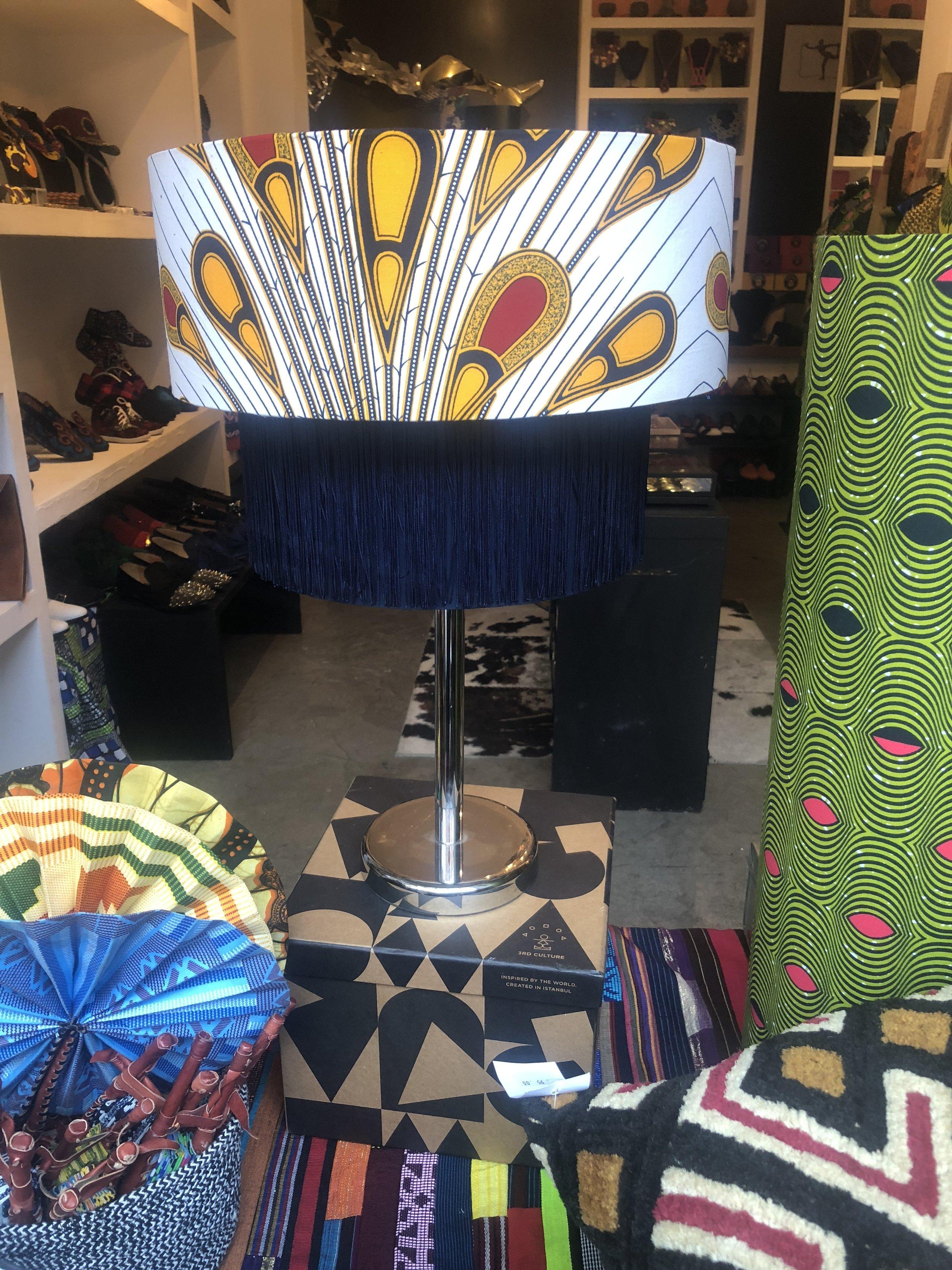 Bri lampshades in Soboye window display