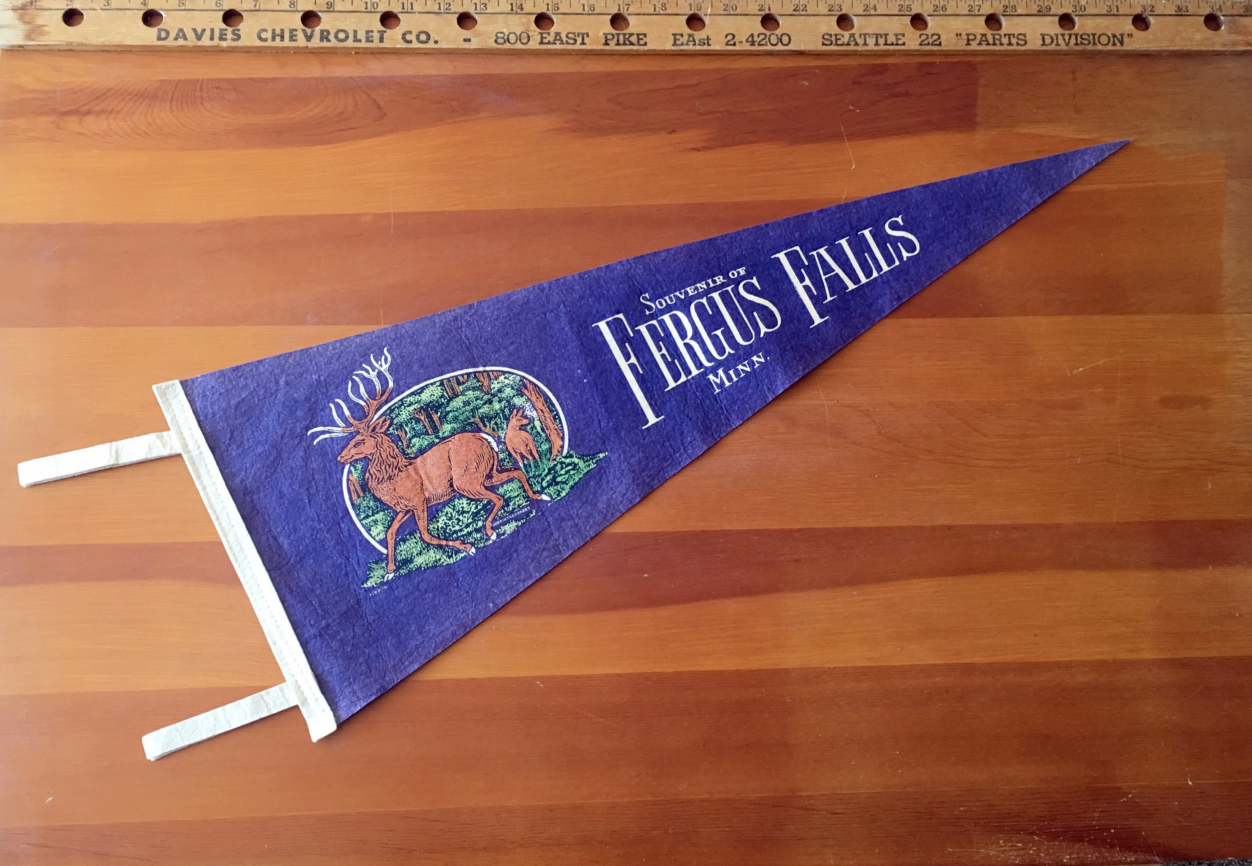 Added to the Woodlands Collection; retro north-woods pennant