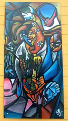 Gaia mural panel