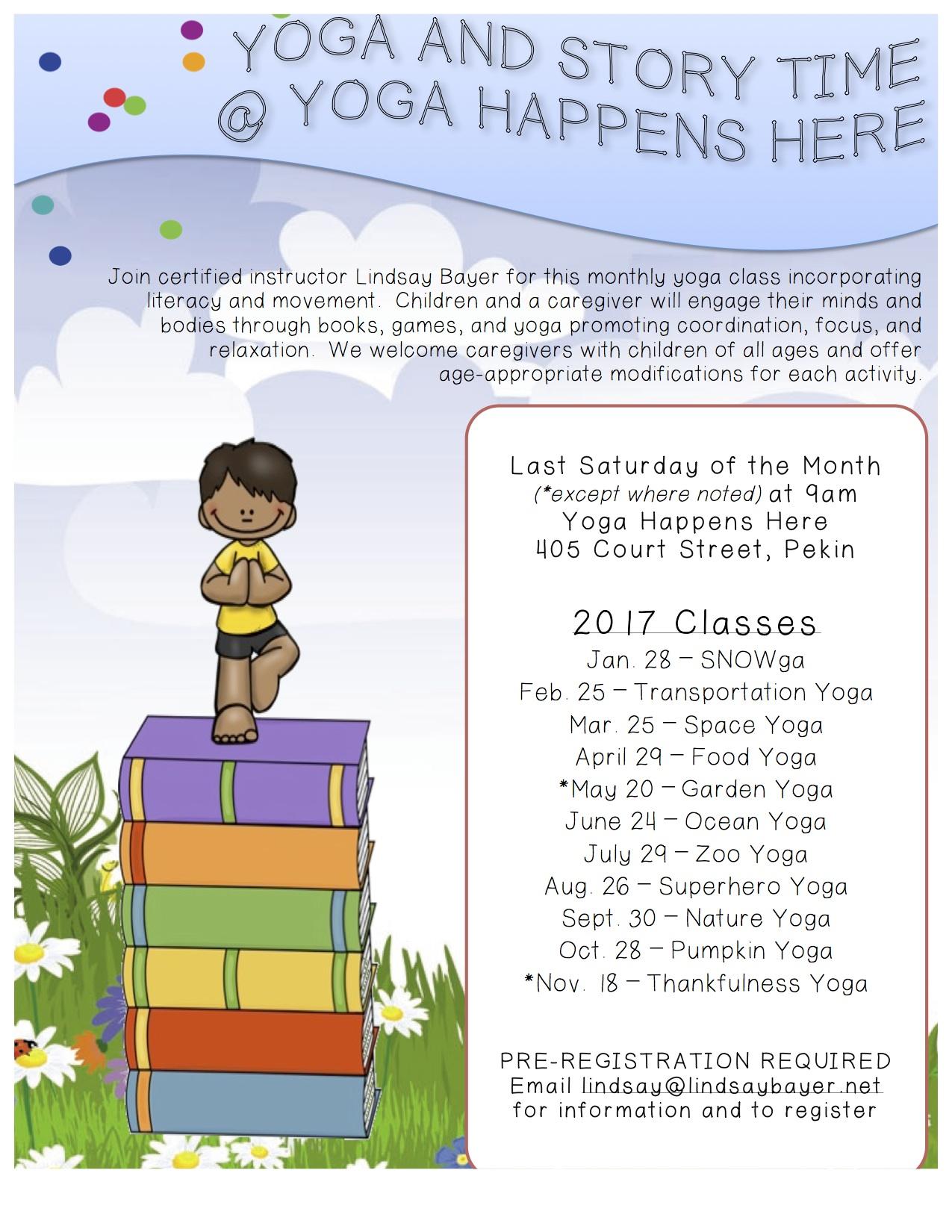 Pekin, IL classes for 2017