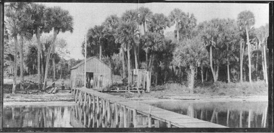 Photo courtesy of Sebastian Area Historical Society              Paul built a boat shop on the shore and created many of the early boats.
