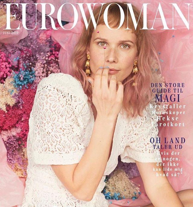 Eternal floral backing choir for our muse @ohlandmusic on the cover of @eurowomandk June issue🎤🌸💘