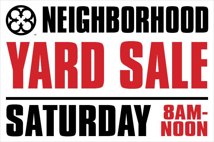 Oakwood Neighborhood yard sale