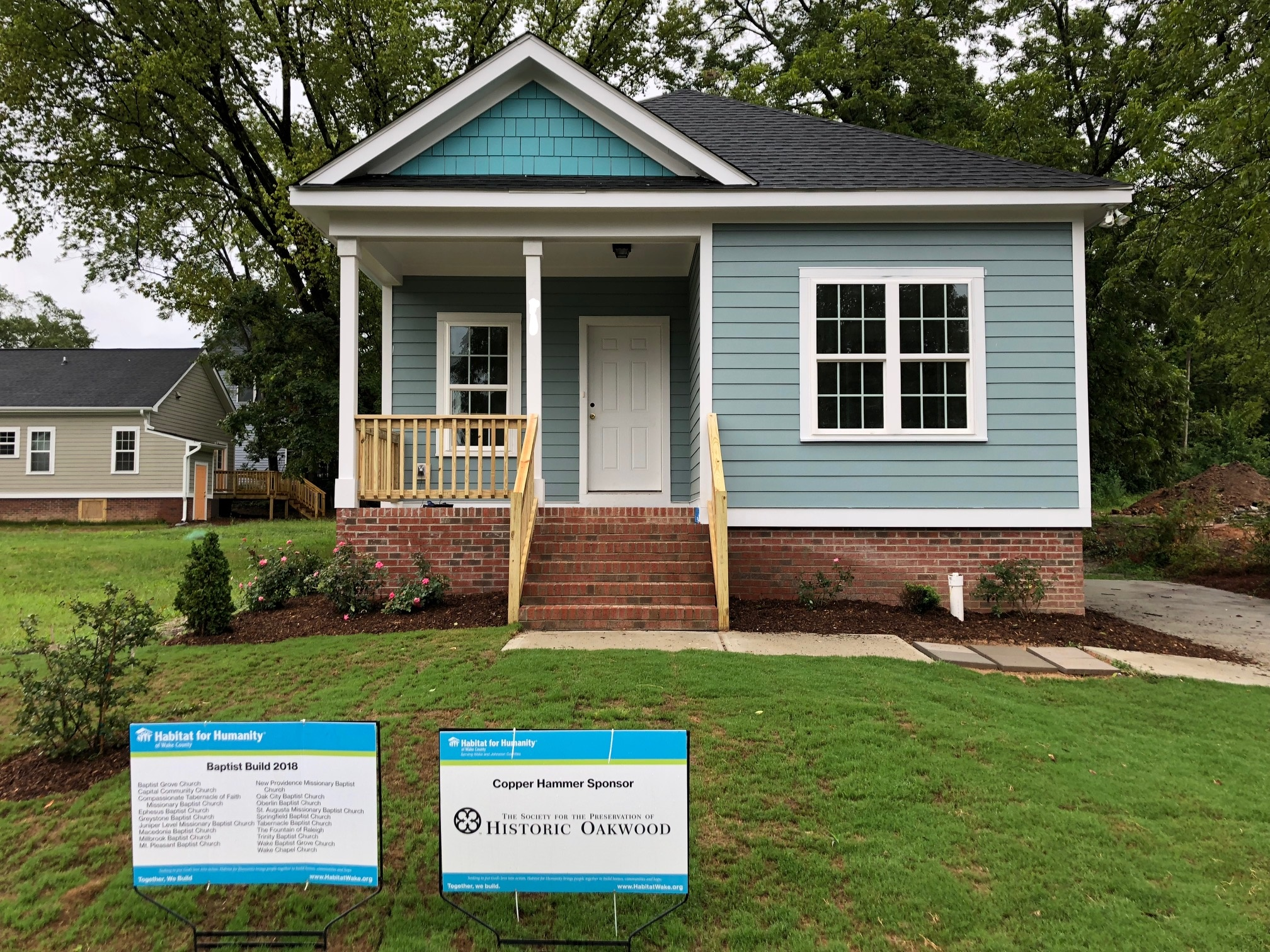 Habitat for Humanity House sponsored in part by the SPHO built on Oakwood Avenue in 2018.