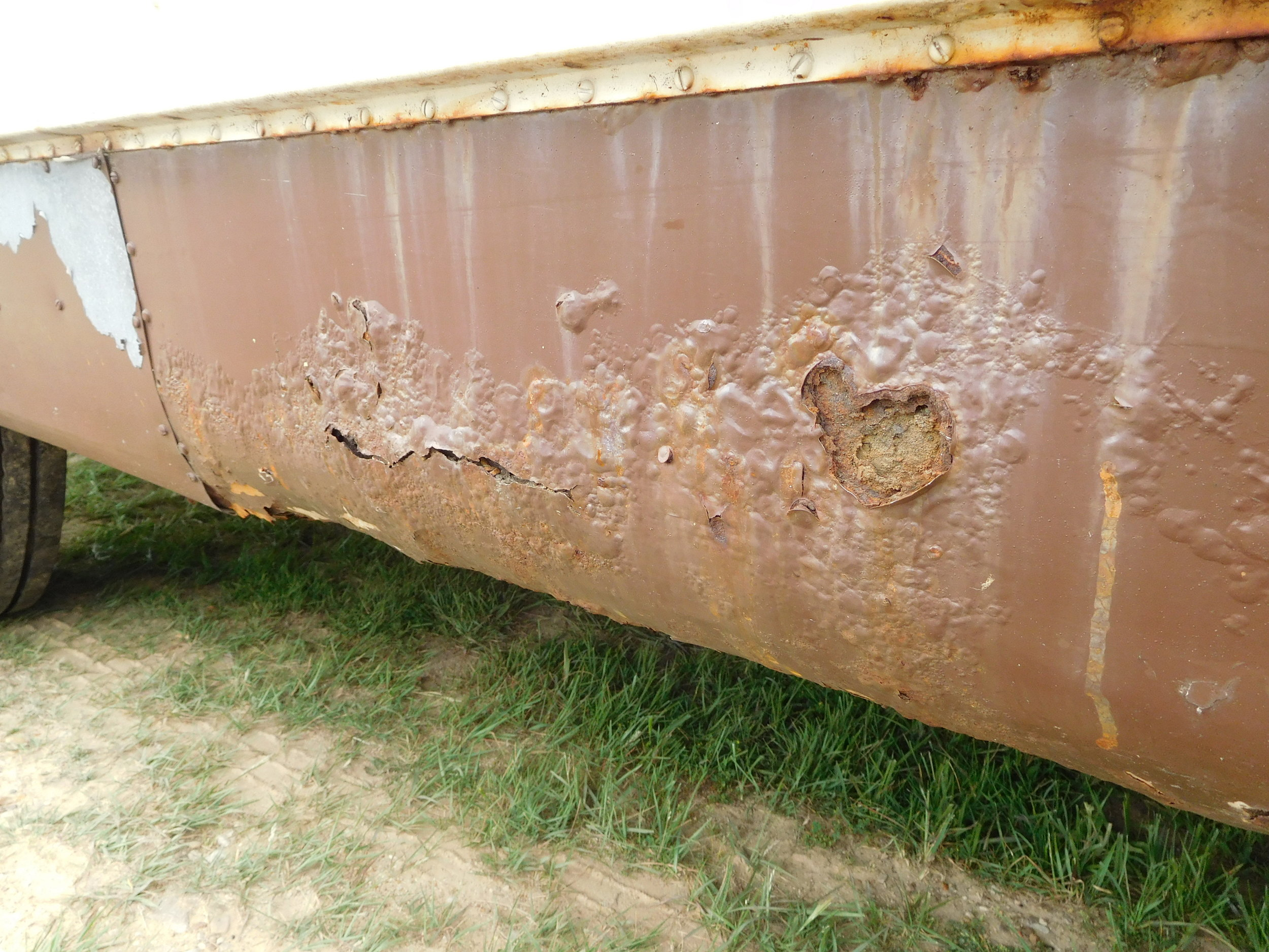 Some corrosion is expected, the side skins will be removed allowing the depth of the corrosion to be revealed.