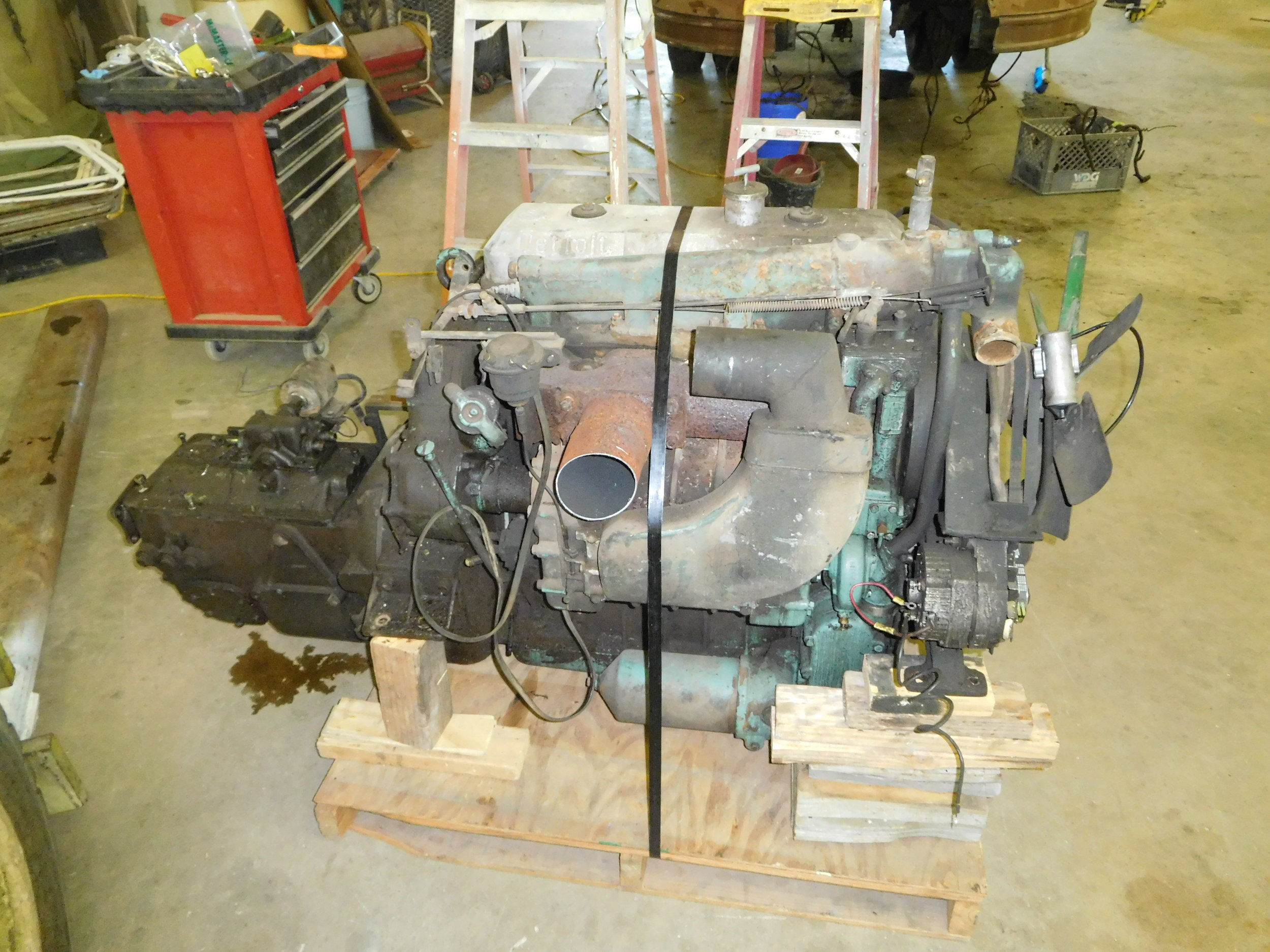 Engine and transmission removed