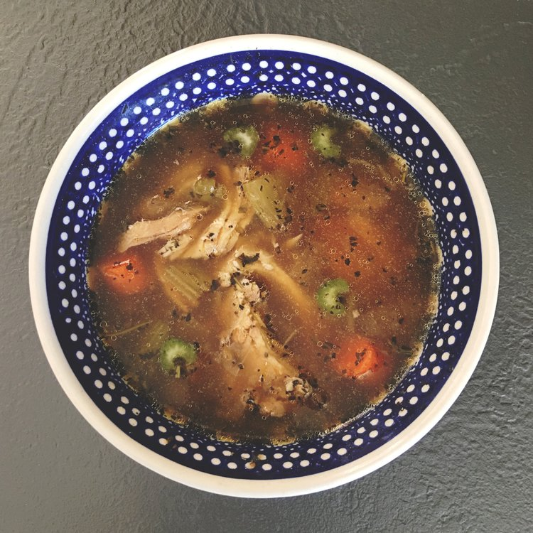 INSTANT POT ROSEMARY & BASIL CHICKEN SOUP