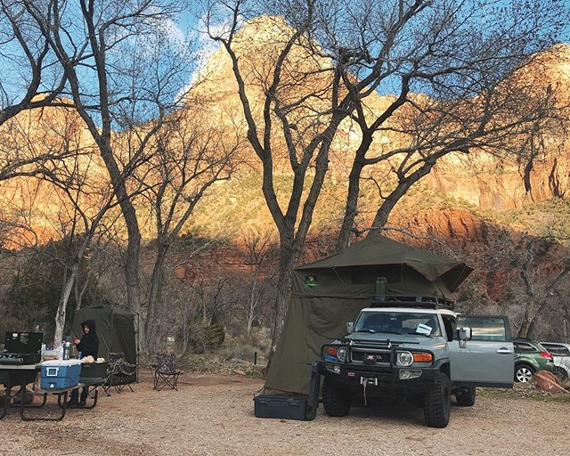 Home for the night...maybe two. #campvibes #battalfieldspringbreak2019 #battalfieldoverland #zionnationalpark