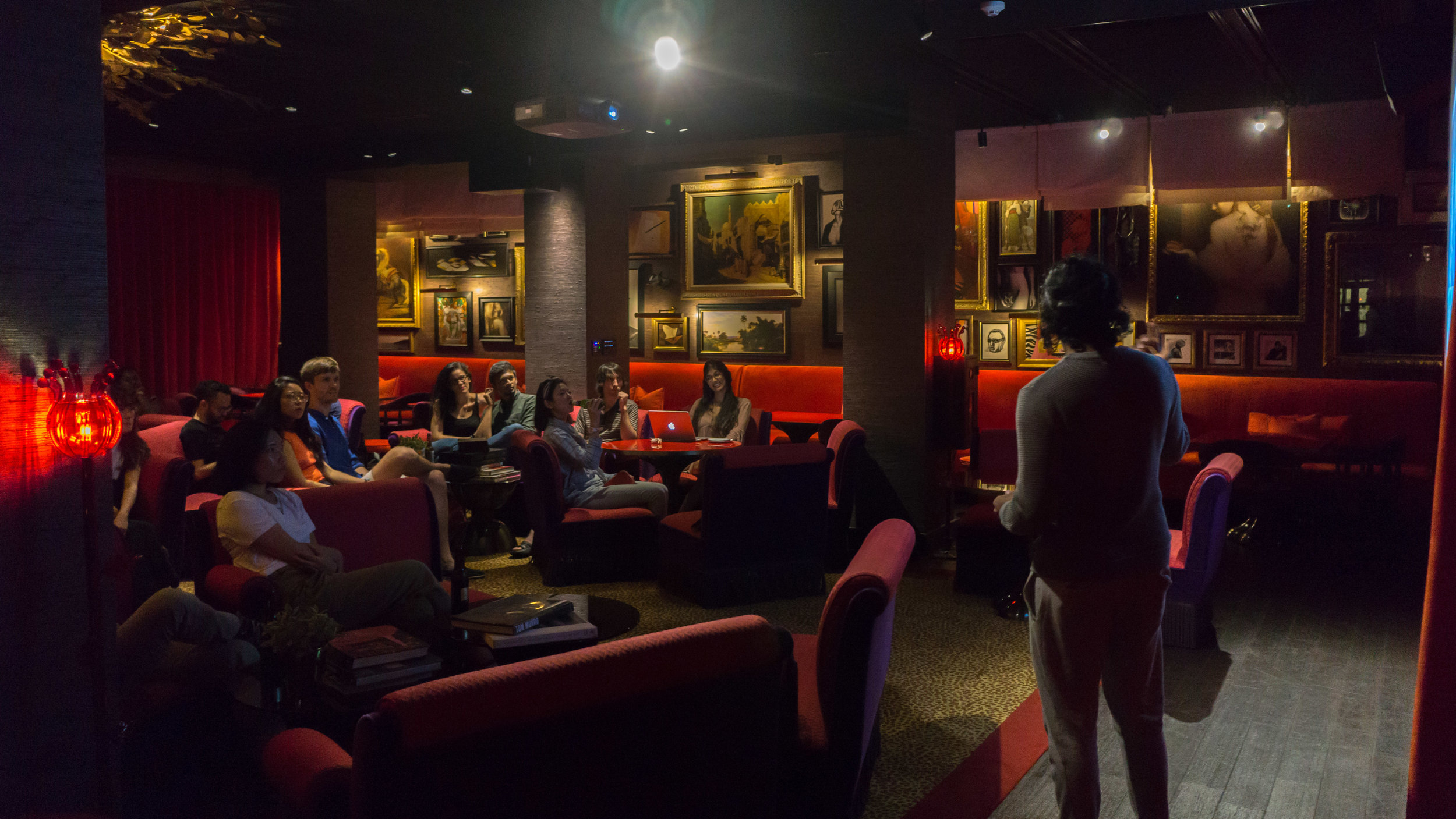 Pre-residency artist talk at Hotel Vagabond, Singapore (July 2017)