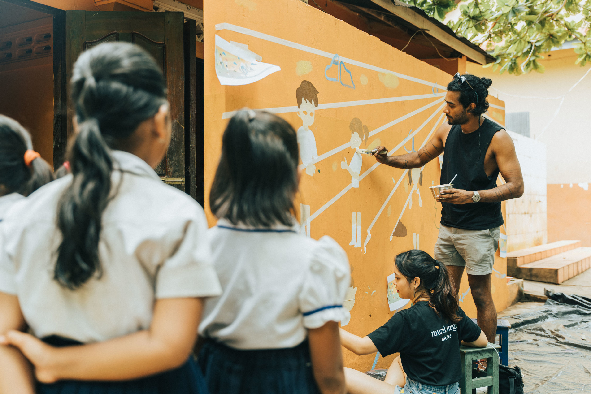 Caring for Cambodia, Community Mural at CFC, Siem Reap, Cambodia (2019)