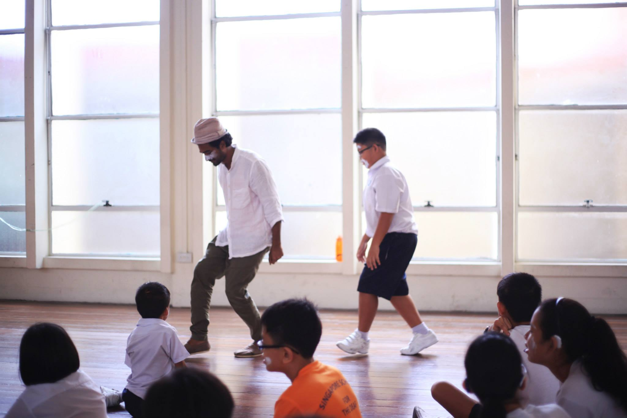 Silent March Project, Performance workshops for School for the Deaf, Singapore (2014)