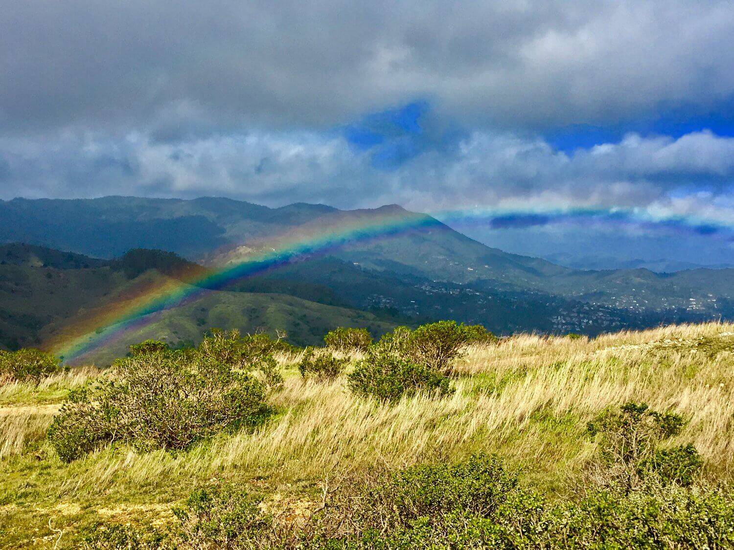 rainbow on a mountain.JPG