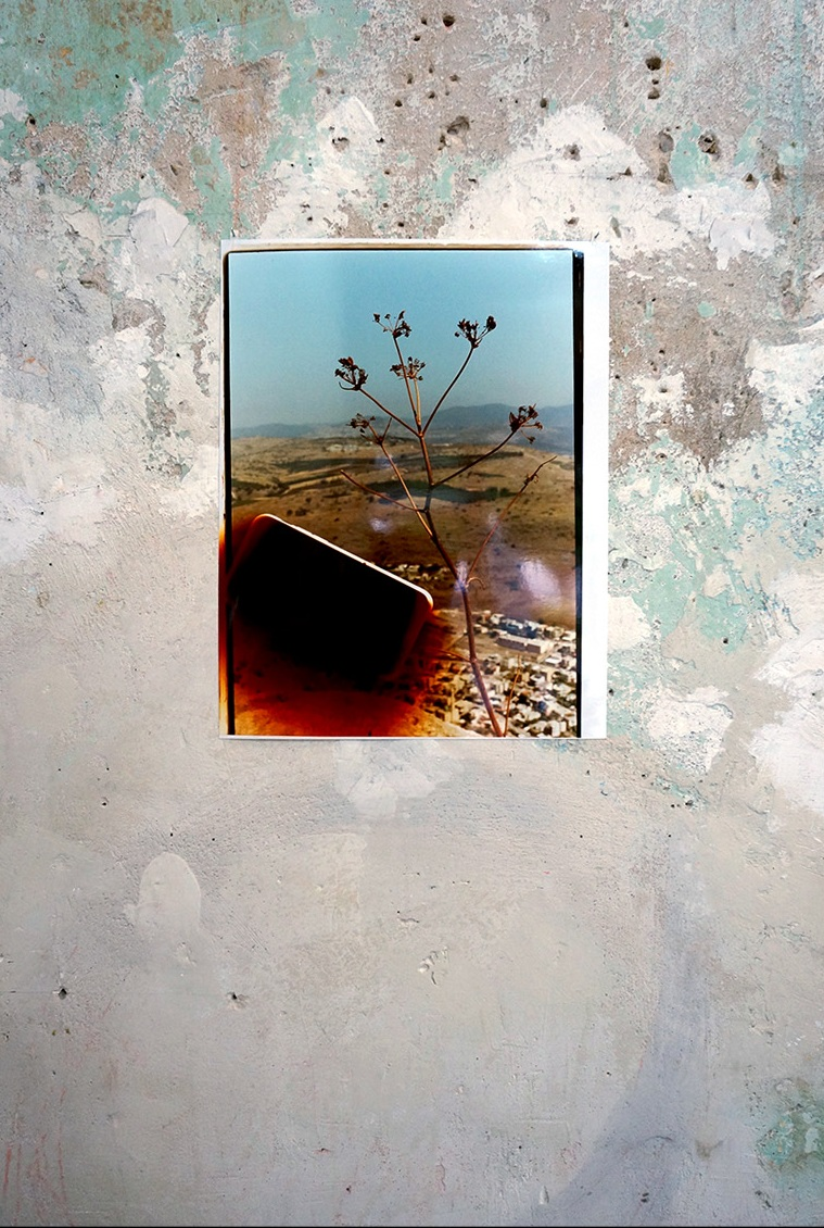 Untitled (Over village from Mt.Arbel, Golan Heights),  2016, Chromogenic print    Installation view: Dérive Exhibition, 2016, Tête Galerie, Berlin