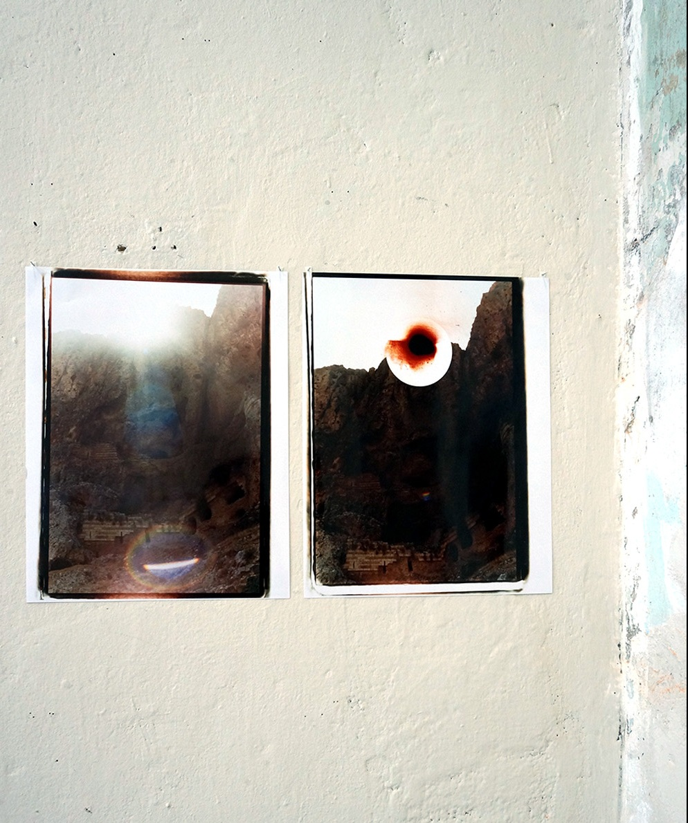 (left to right)  Untitled (Mt. Arbel Refraction Natural); Untitled (Mt. Arbel Refraction  02  Digital) , 2016, Chromogenic print  Installation view: Dérive Exhibition, 2016, Tête Galerie, Berlin