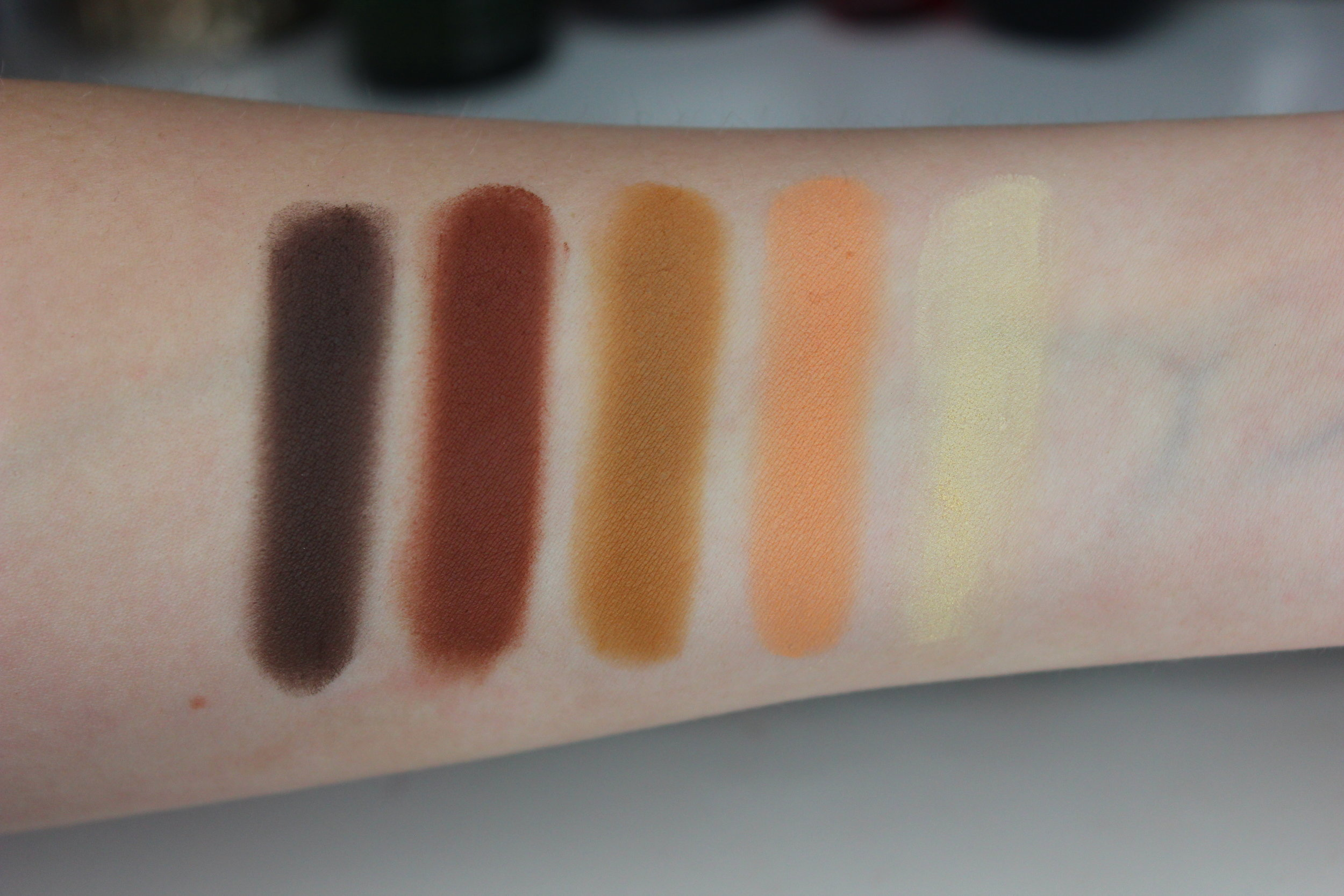 Melt Cosmetics Rust eyeshadow Stack review and swatches