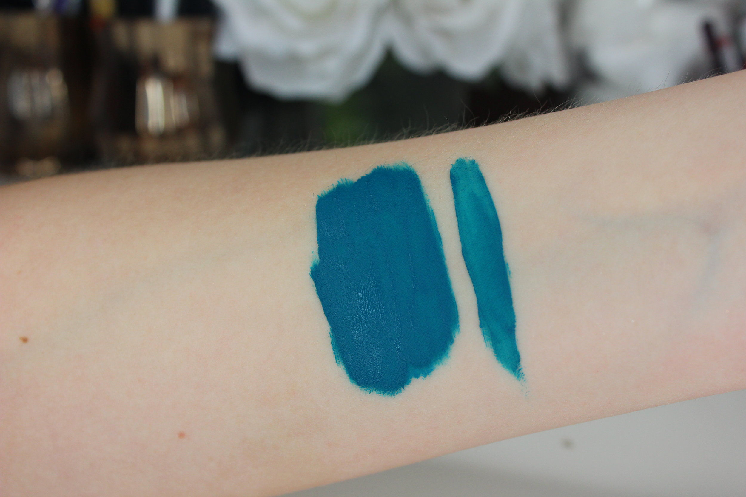 Coloured Raine matte lip paints review - Speechless swatch