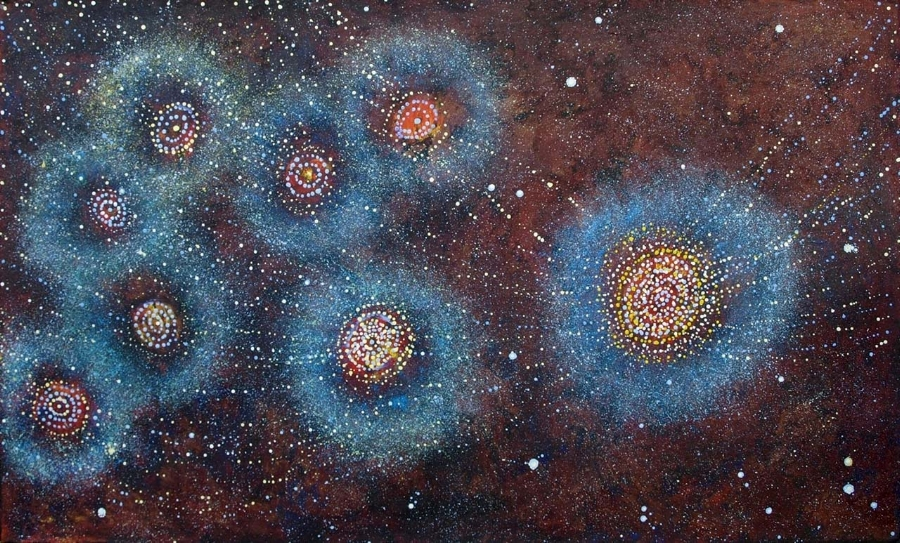 Seven Sisters - Alma Nungarrayi Granites  Yanjirlpirri Jukurrpa