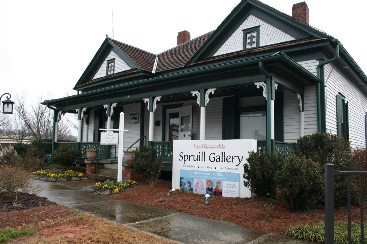 A captivating Historic home built in the late 1800's, converted into the beautiful Spruill Art Gallery of Dunwoody, Atlanta. USA
