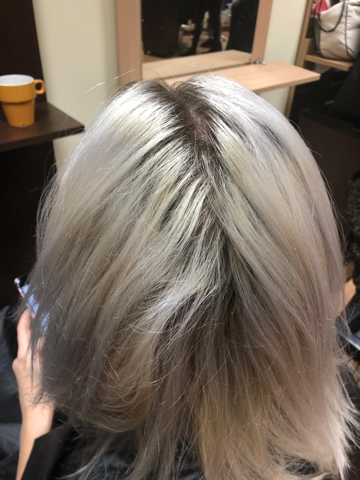 Venus-Beauty-Hair-Salon-Tavistock-Devon-Courses-Learning-Hannah-Woodgates-Confidential-Colours-Kim-Pope-Hairstylist-Milkshake-Phab-Silver-Hair-Before.JPG