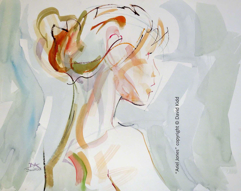 """""""Ariel Jones"""" Watercolor by David Kidd, 18x24"""""""