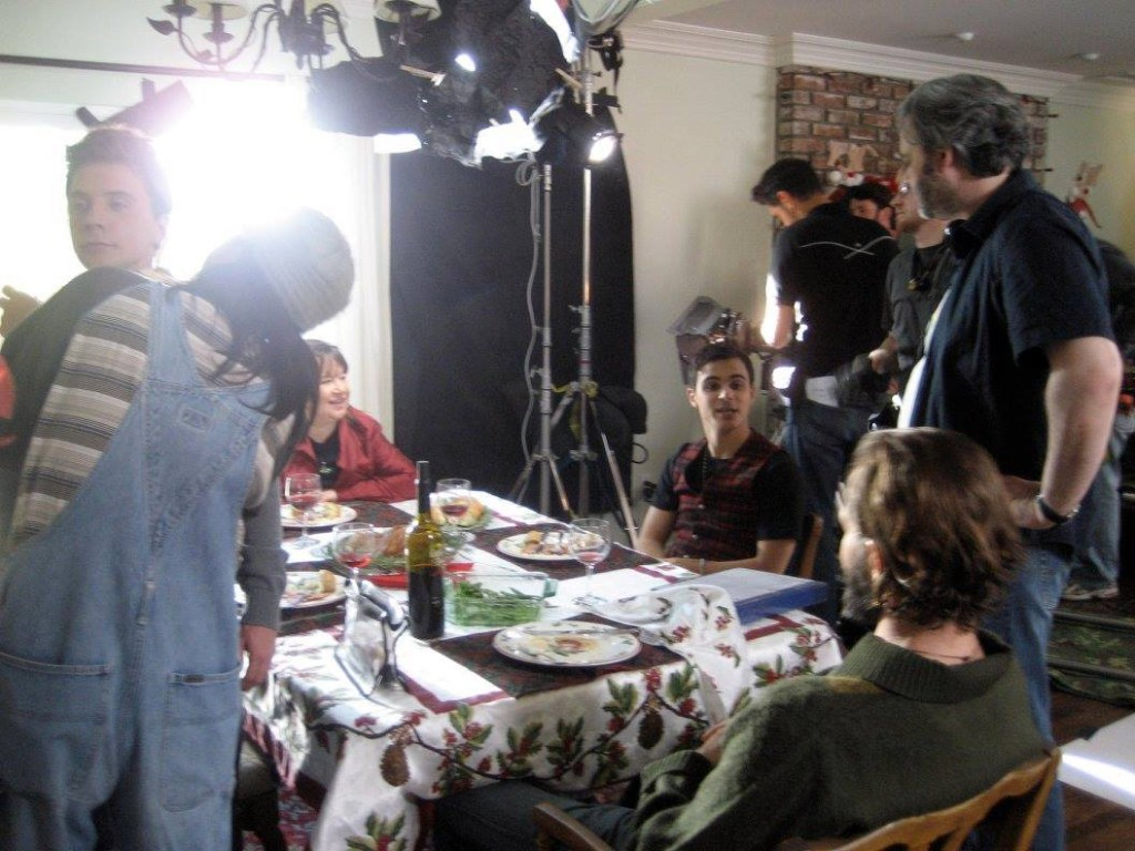 On the set of  Make the Yuletide Gay .