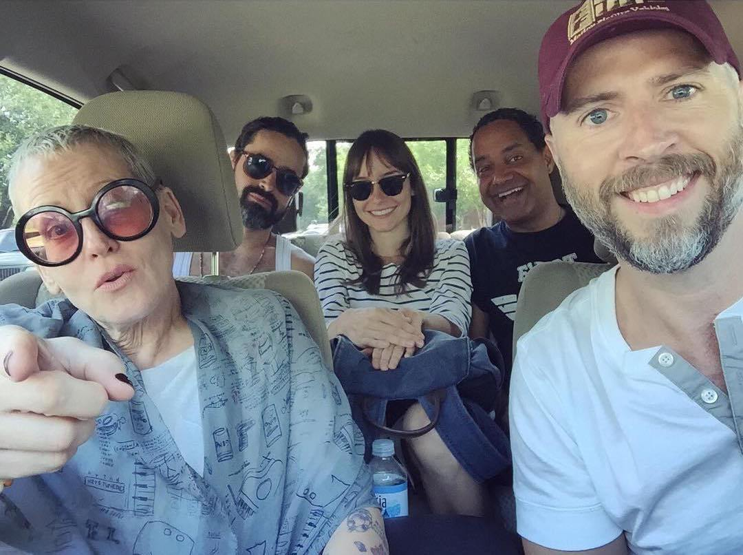 With Lori Petty, Jesse Bradford, Jocelin Donahue and producer, James LeMarr from the set of  Dead Awake .