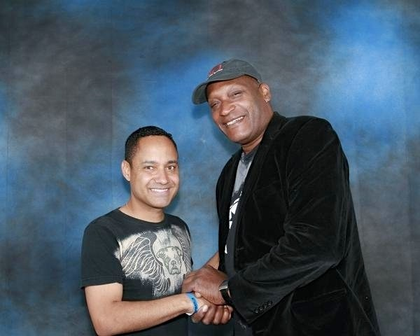 With Tony Todd from Final Destination and Candyman.