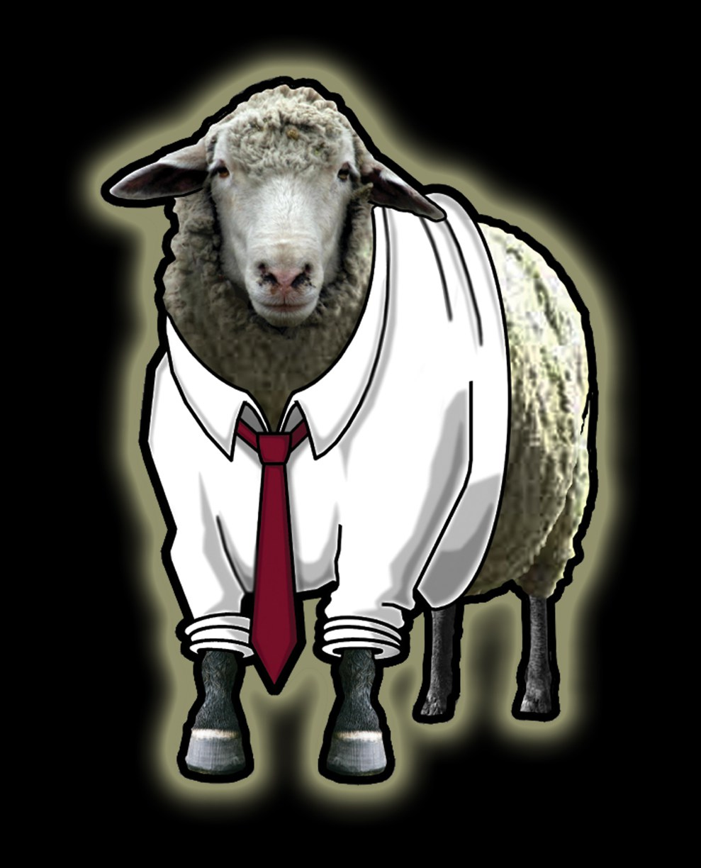 """""""Baahhh!"""" It's David's logo for Sheep's Clothing Productions!"""