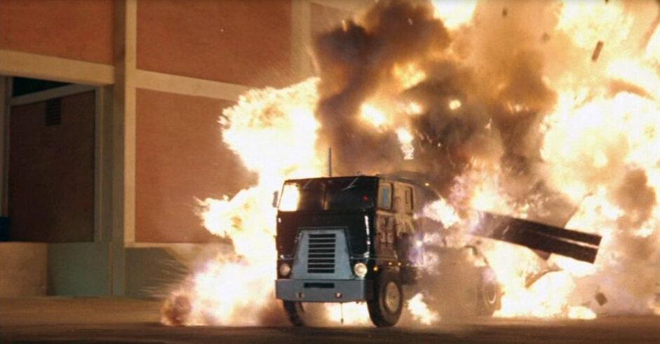 Tanker truck explosion.