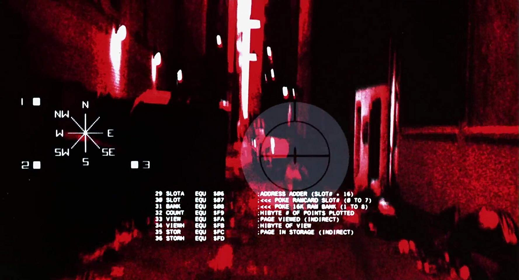 """""""Termo-Vision"""" simulated infra-red computer readout display."""