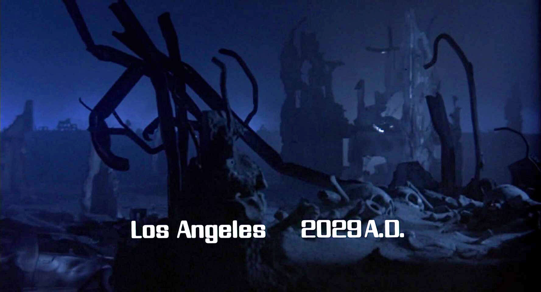 Sub-title during Future War sequence.