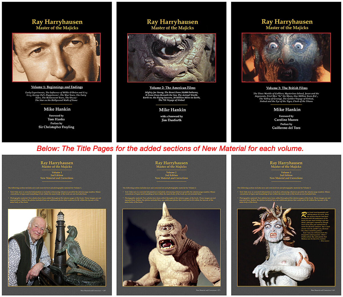 Ray Harryhausen–Master of the Majicks  – collage of cover images.