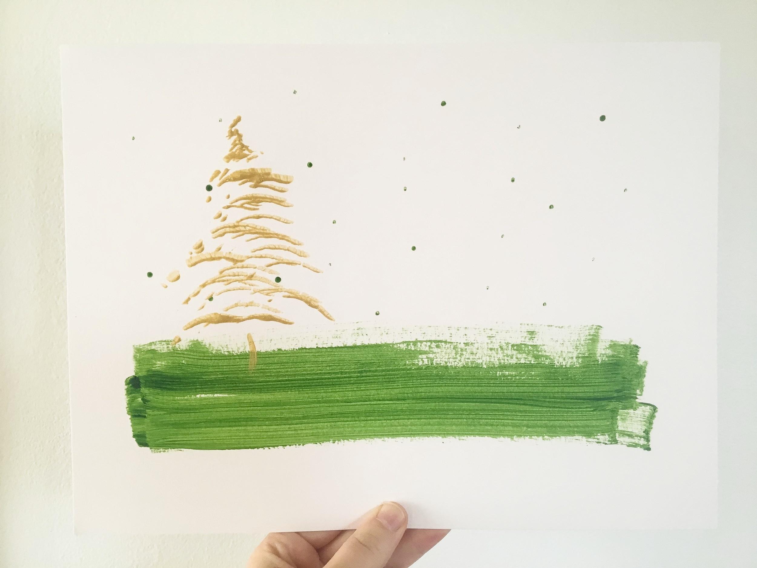 Happy Christmas Tree by Rachel Loewens