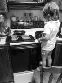 Jens in the kitchen || Rachel Loewens Fine Art