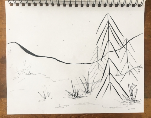abstract landscape || in my sketchbook || Rachel Loewens
